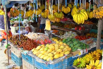 Тайские фрукты с лотка