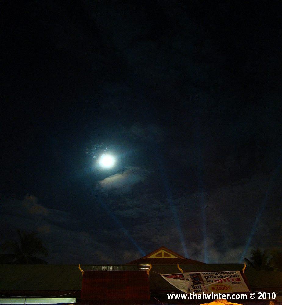 Прожекторы в ночи
