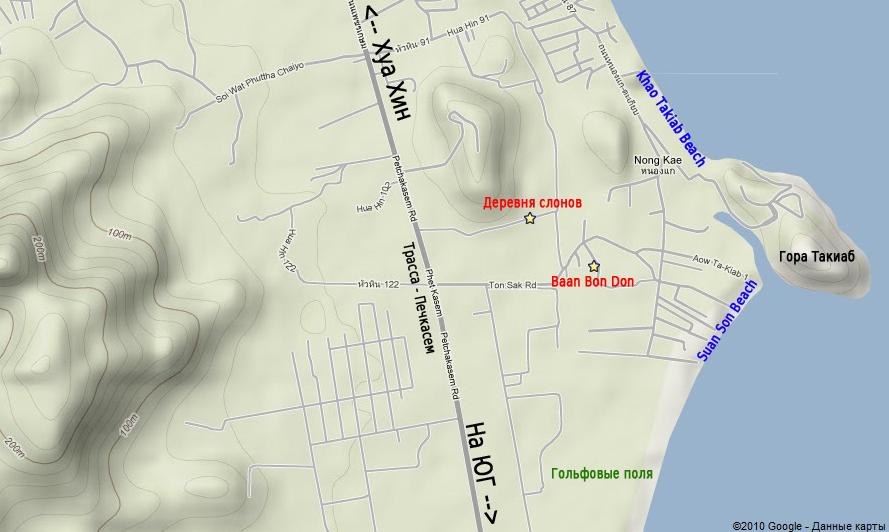 Карта Baan Bon Don
