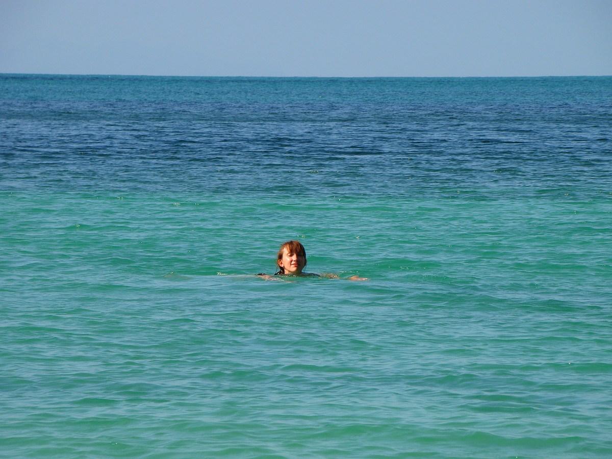Жанна делает заплыв