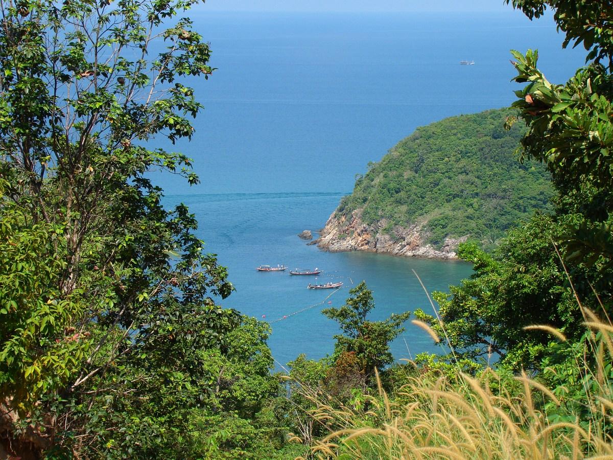Вид с горы: Koh Ma