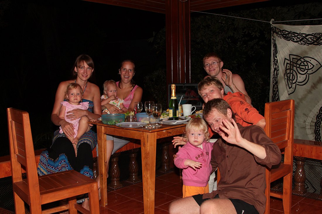 Новогодняя вечеринка 2001 года на Пангане в доме у Саши и Андрея