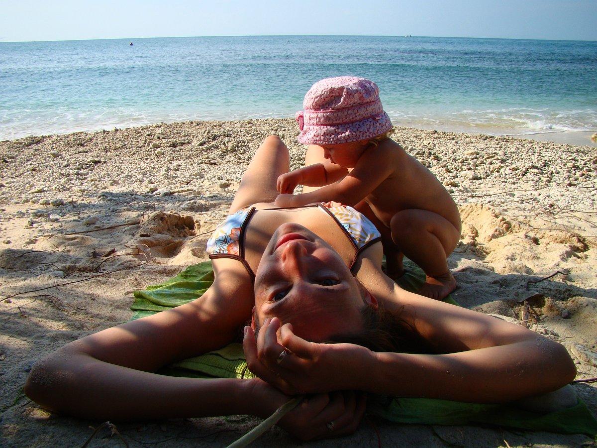 На уединенном пляже