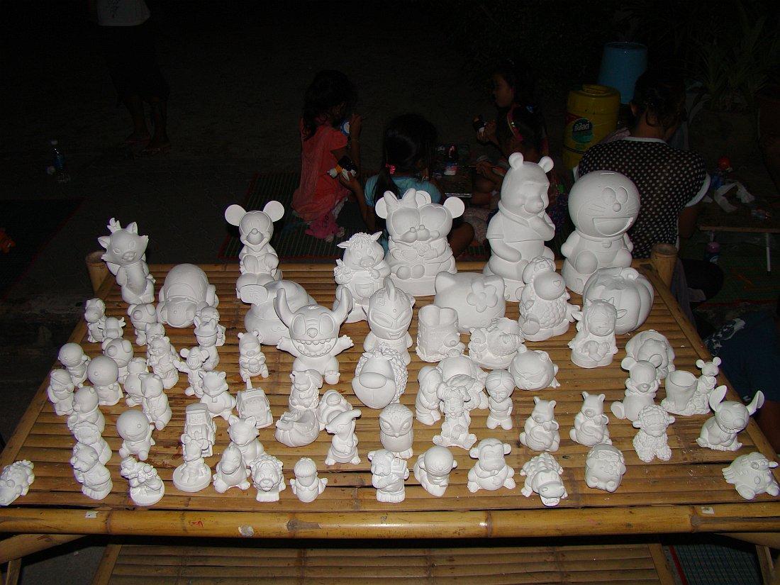 Игрушки из гипса
