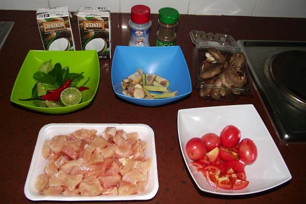 Ингридиенты для супа | Тайский суп на кокосовом молоке | Зима в Таиланде