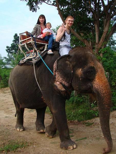 Мы катаемся верхом на слоне | Катание на слонах в Хуа Хине