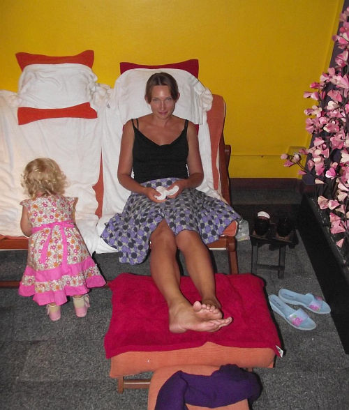 На массаже | Тайский массаж тела, головы, ног | Зима в Таиланде