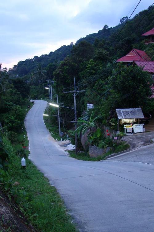 Дорога до пляжа Haad Rin | Koh Phangan Full Moon Party, Вечеринка полной луны | Зима в Таиланде