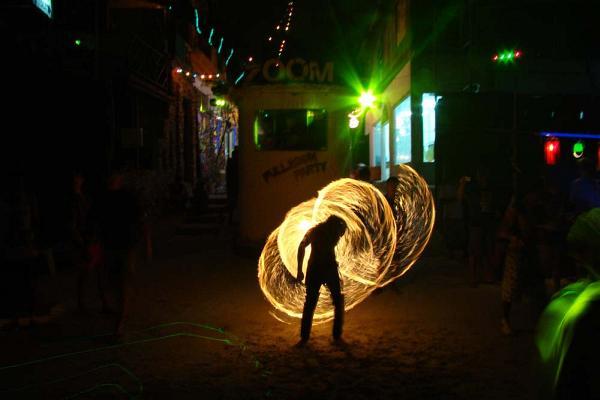 Огненное шоу - fire show | Koh Phangan Full Moon Party, Вечеринка полной луны | Зима в Таиланде