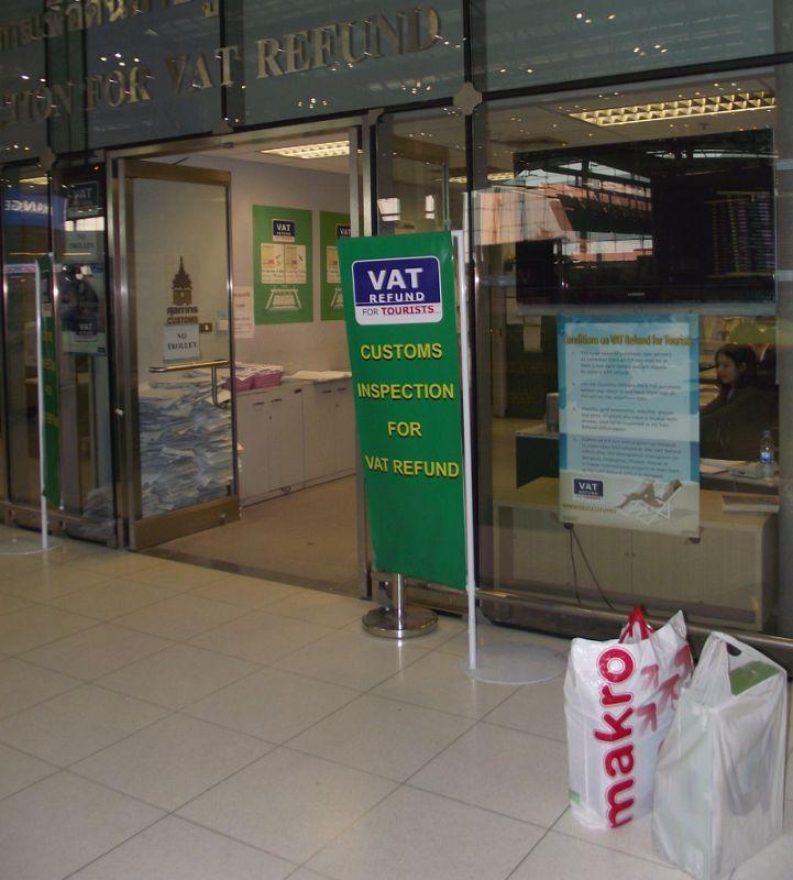 VAT Refund Customs Inspection | Зима в Таиланде