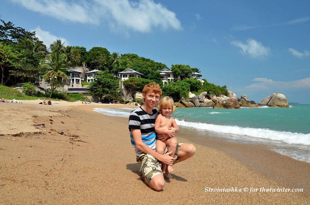 Мы с Василисой на пляже Coral Cove | Зима в Таиланде