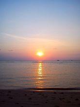Вторая Зима в Таиланде, закат на пляже Натон, Самуи