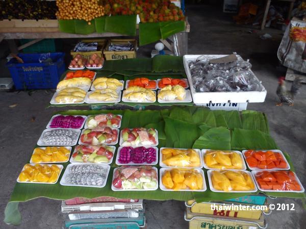 Тайские фрукты - нарезка