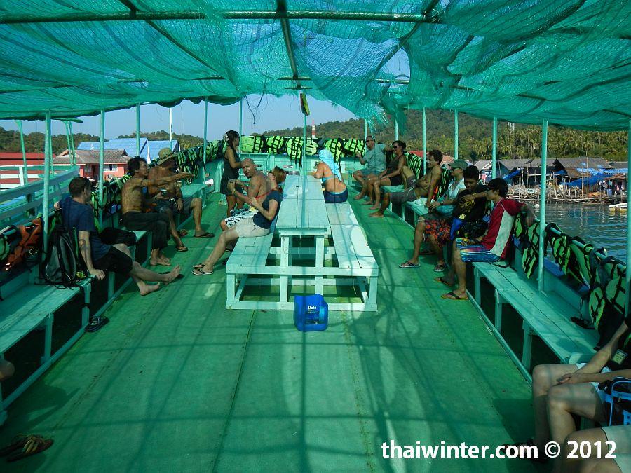 Снорклинг тур на Ко Чанге - на верхней палубе
