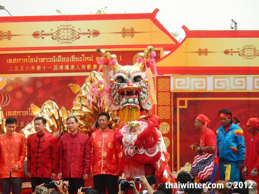 Танец дракона на Китайский Новый Год в Чианг Мае