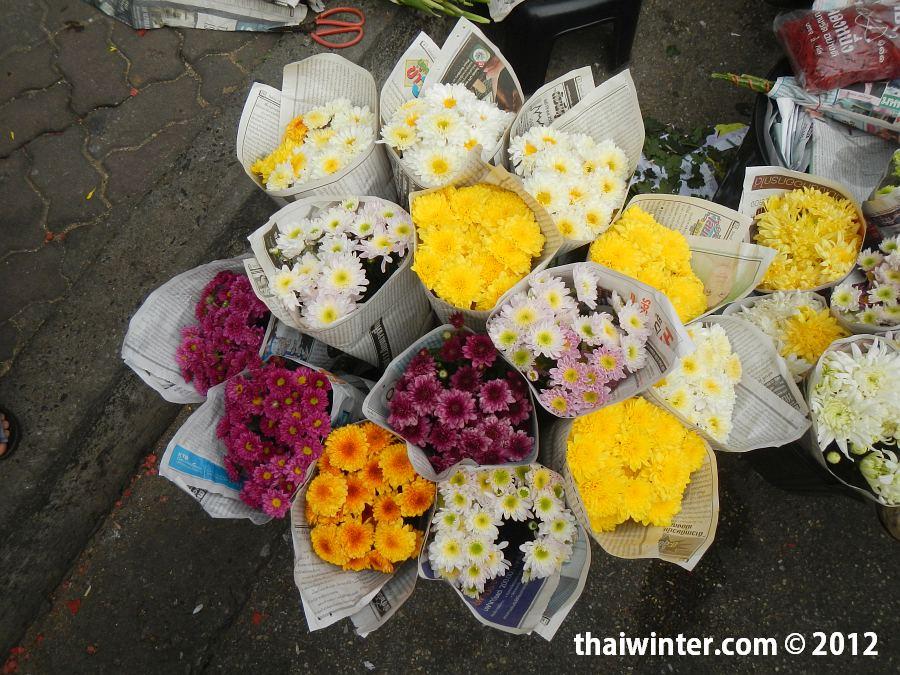Цветы в Чианг Мае на Китайский Новый Год