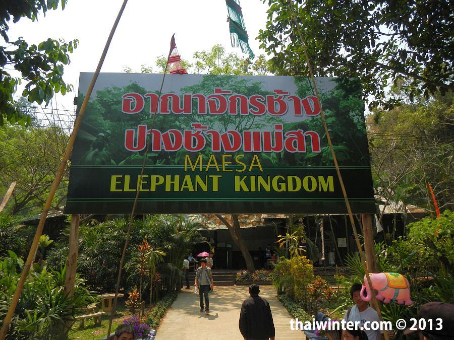 Главный вход в Maesa Elephant Camp