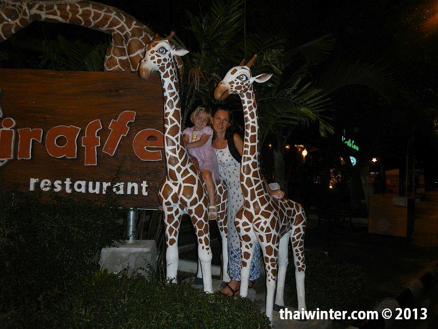 Катаемся на жирафах в Chiang Mai Night Safari