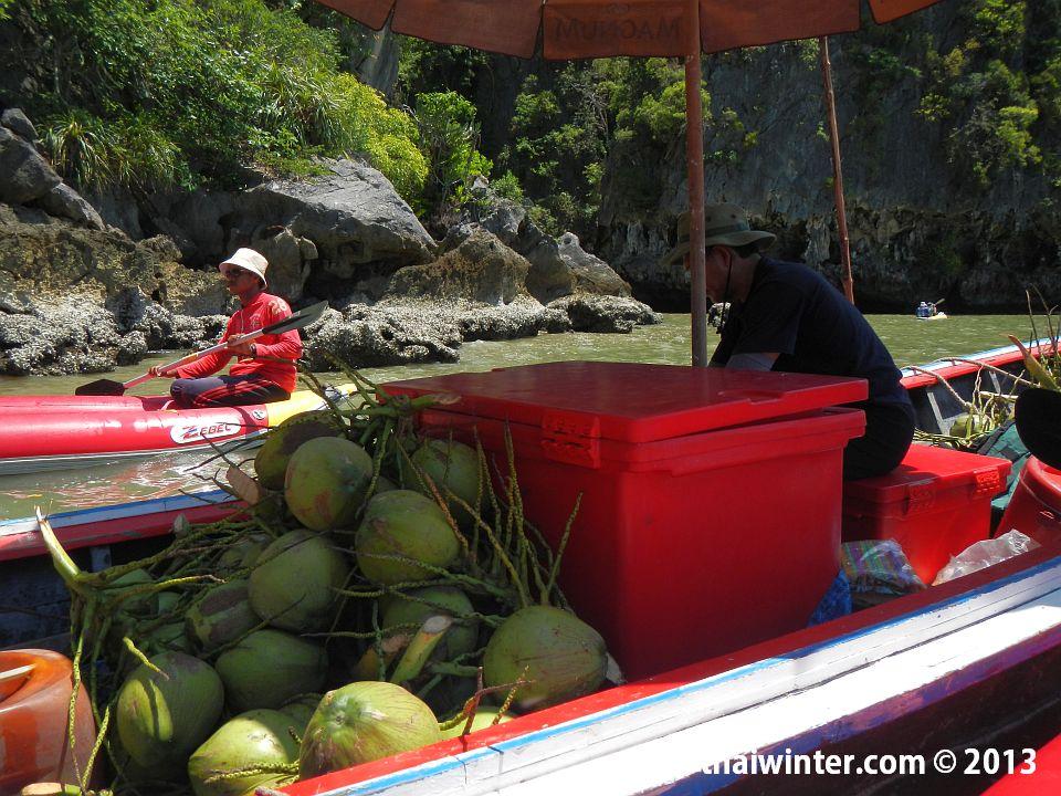 Каяки-такси на острове Talu