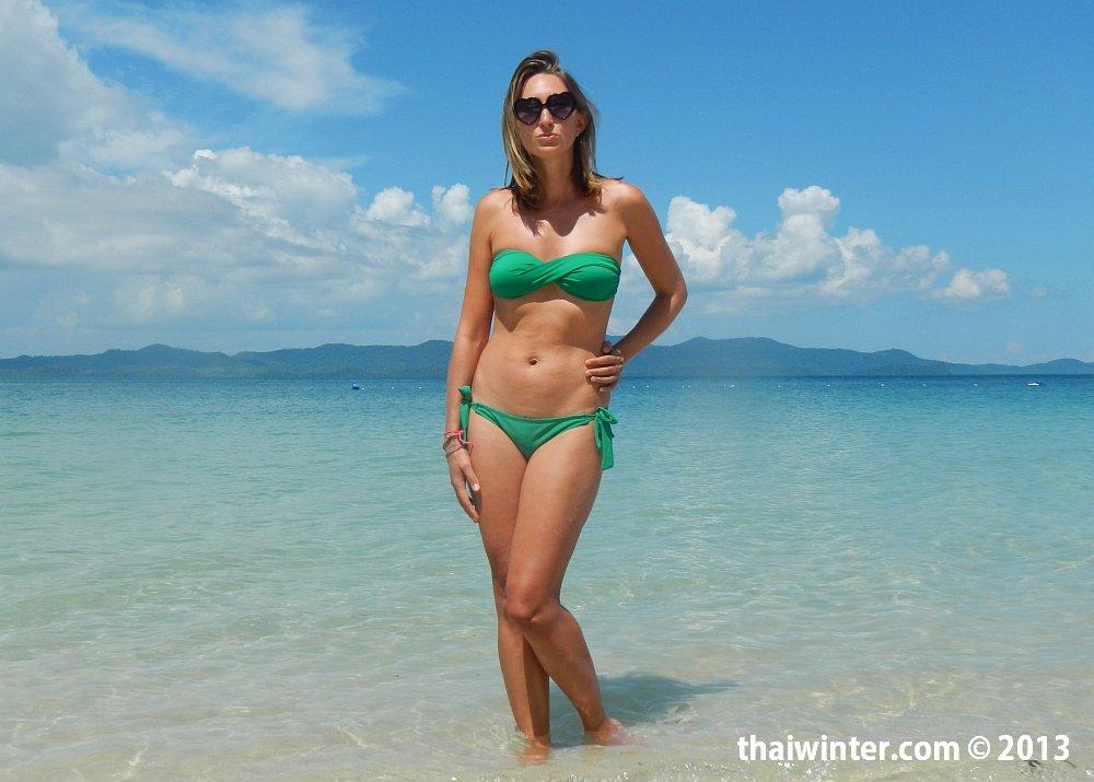 Жанна на пляже