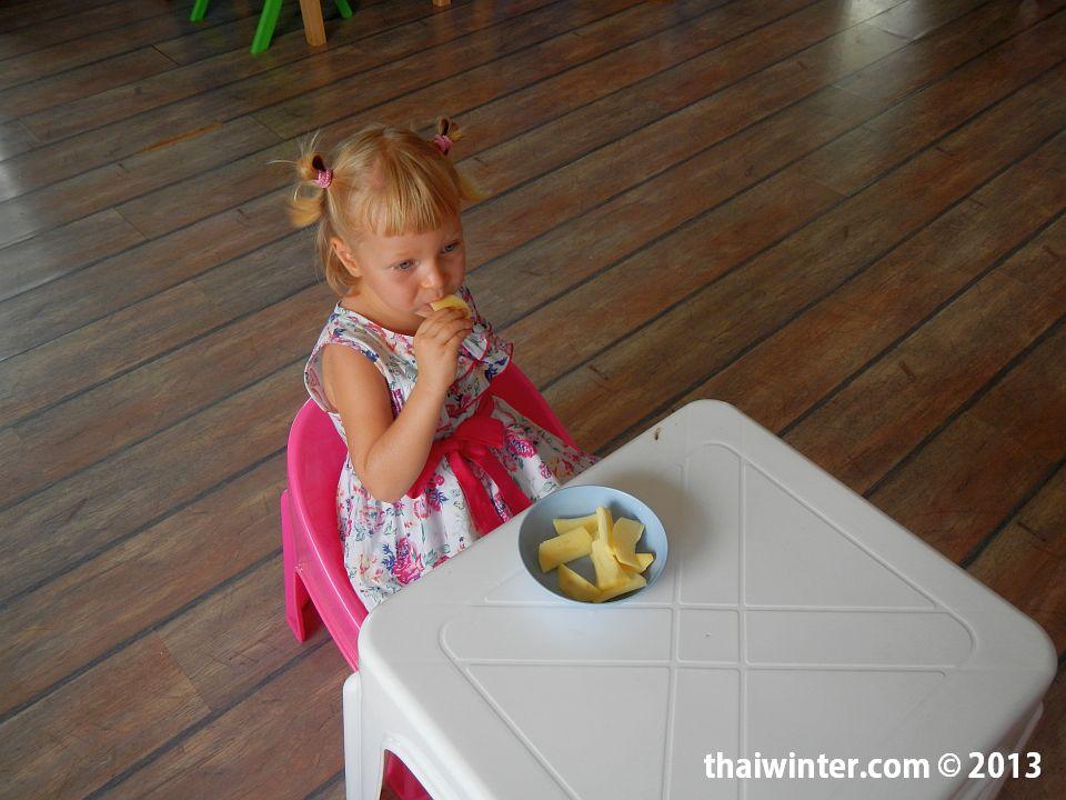 Индивидуальный обед для Василисы в Kids Planet