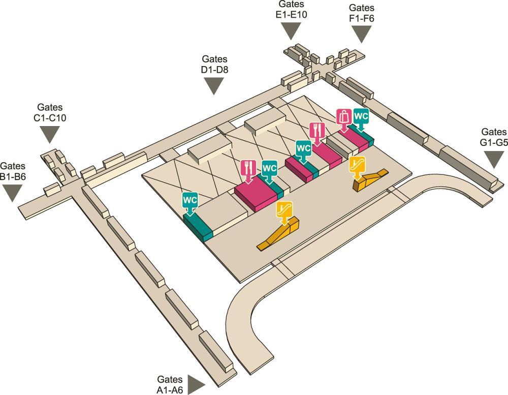 Третий этаж аэропорта Суварнабхуми в Бангкоке