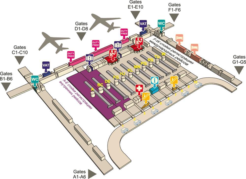 Четвертый этаж аэропорта Суварнабхуми в Бангкоке