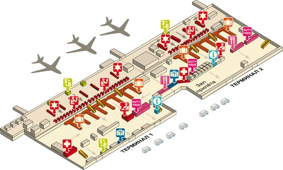 Схема первого этажа аэропорта Дон Муанг