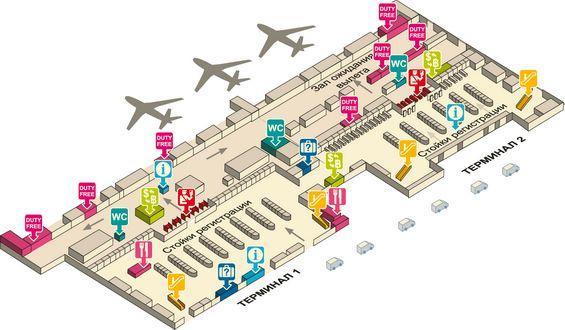 Схема третьего этажа аэропорта Дон Муанг
