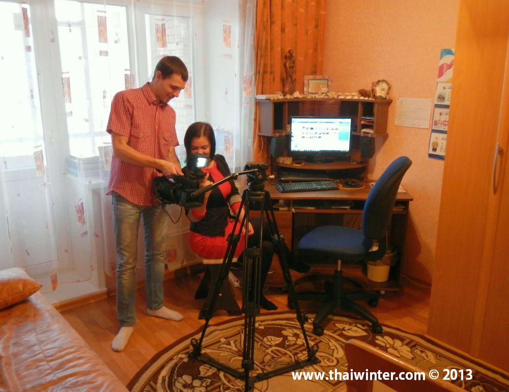 Съемки сюжета для телеканала Енисей у меня дома