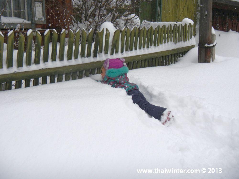 Василиса в снегу