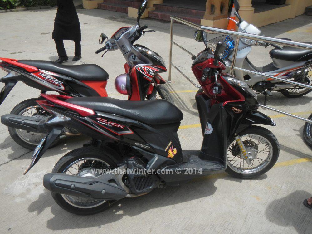 Далеко не новый мотобайк в аренду в Таиланде, без залога