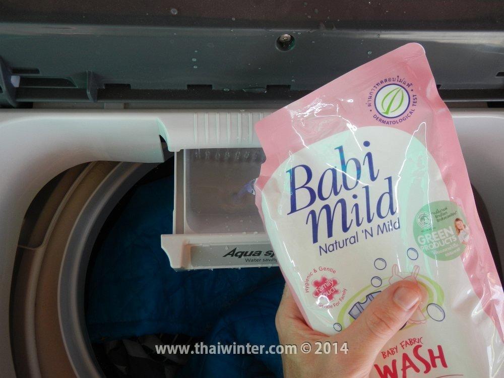 Стиральные машинки в Таиланде - заливаем жидкий порошок