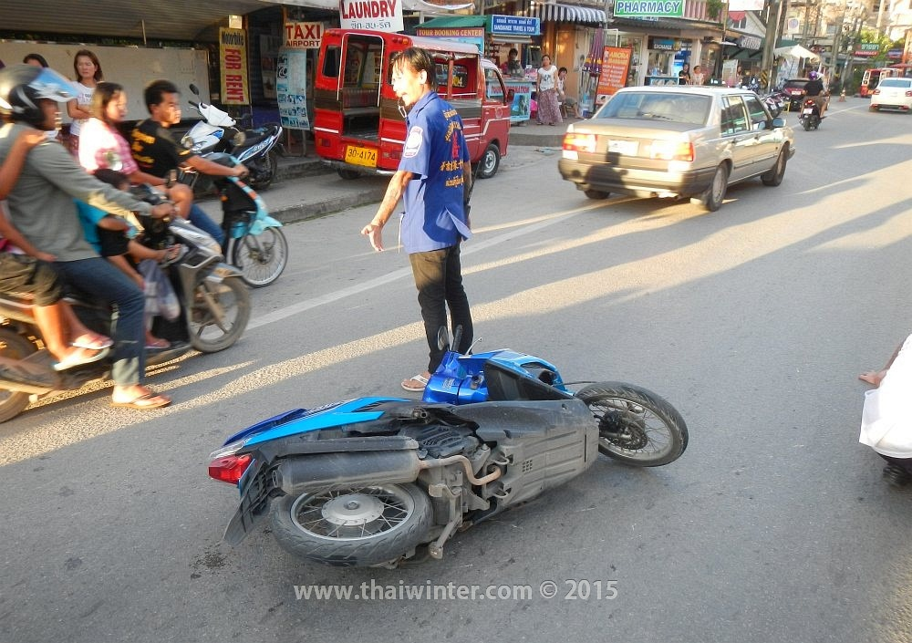 Авария мотобайкера на Пхукете