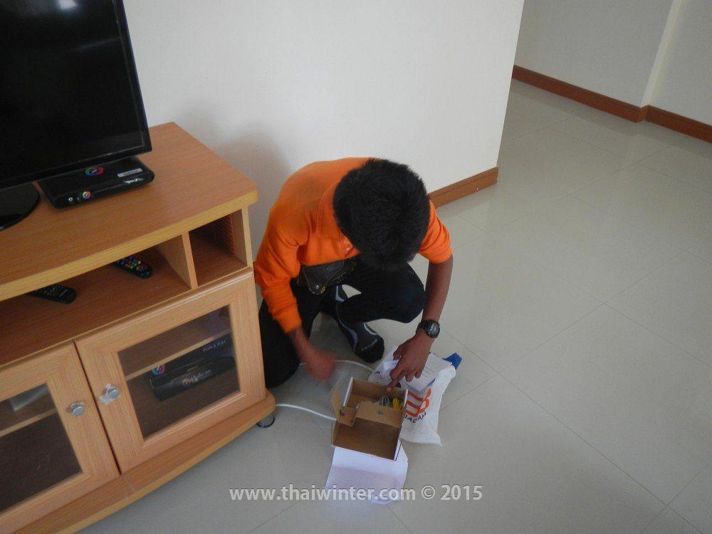 Проведение интернета в нашем доме в поселке Пхутован, поселок Phutowan