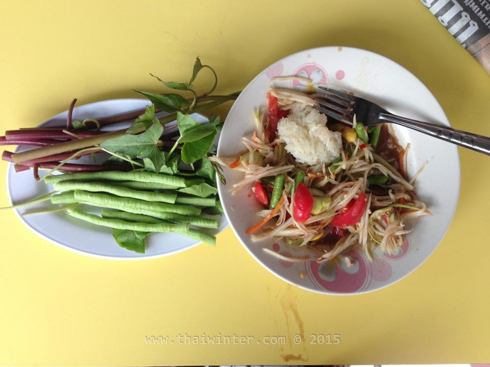 Тайский салат из папайи - Сом Там