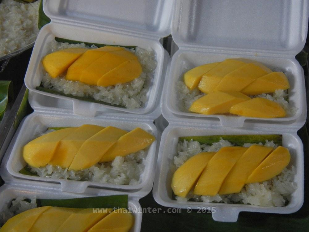 Тайские сладости - khao niao mamuang (манго с клейким рисом)