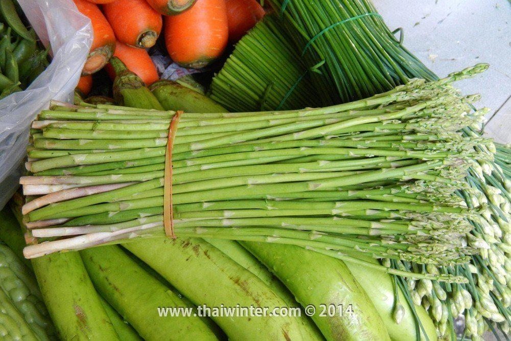 Молодая спаржа в Таиланде