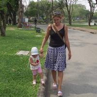 Жанна и Василиса в Люмпини парке