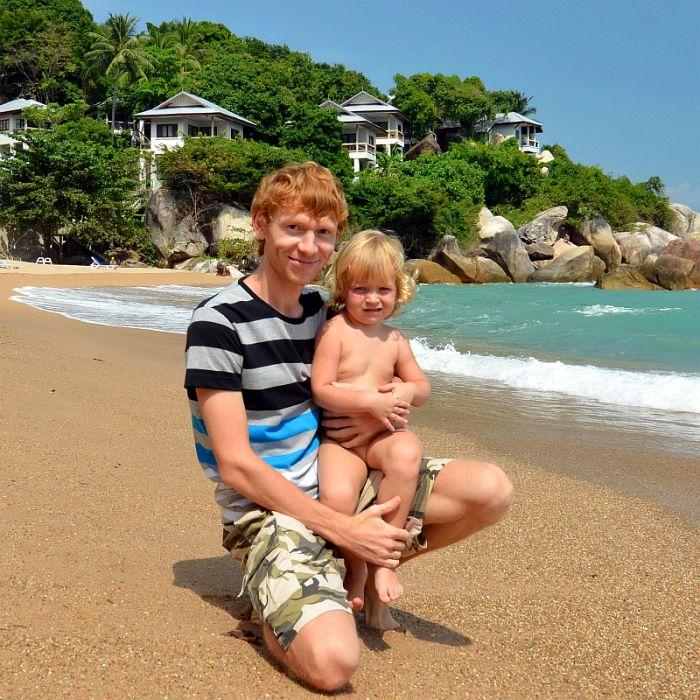 Алексей и Василиса на острове Самуи, Таиланд
