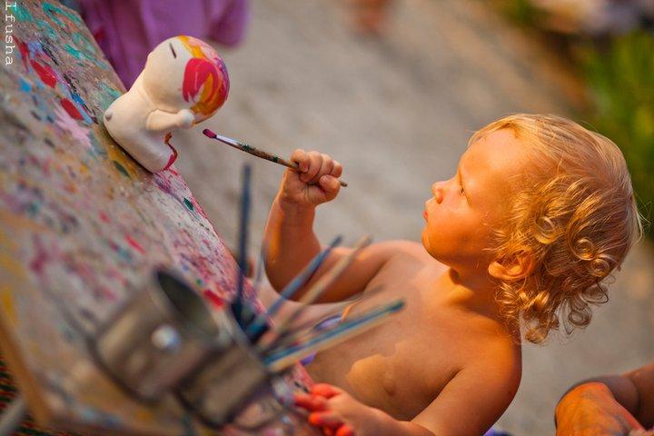 Василиса - юный художник (Kids Party, Ко Панган) | Зима в Таиланде