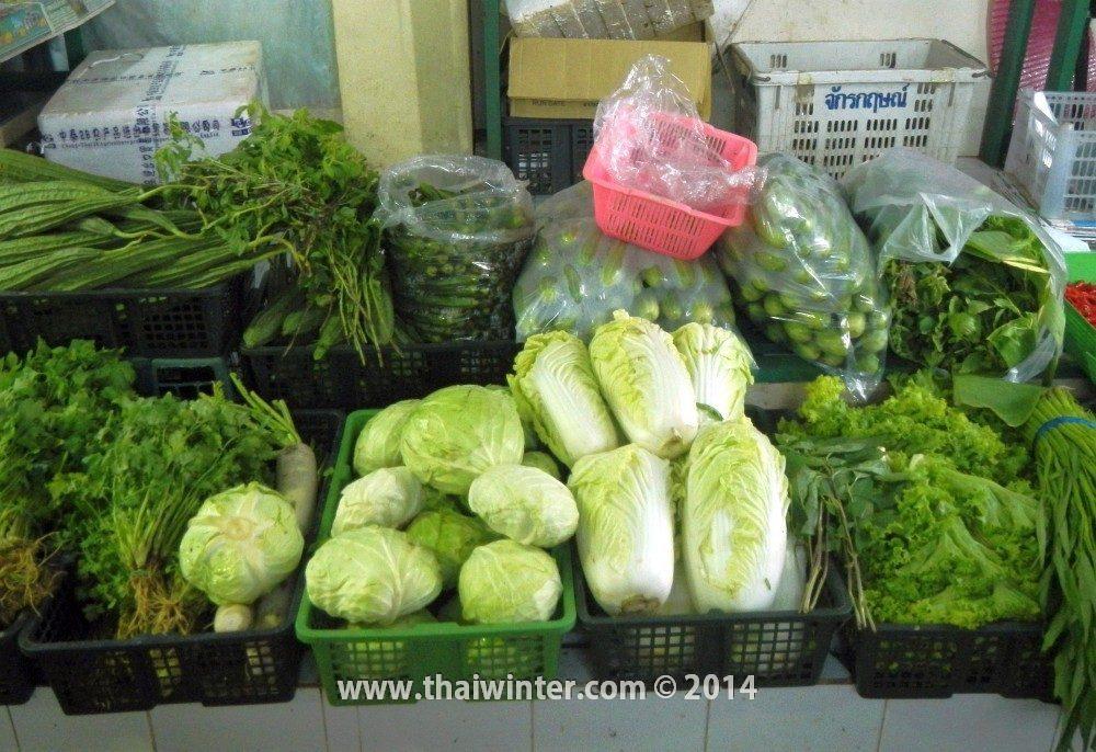 Капуста на тайском рынке