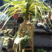 Храм Pura Dalem на Бали, подношения