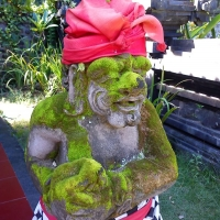Балийские статуи в поленгах
